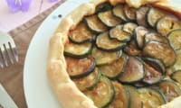 Tarte légère aubergine courgette