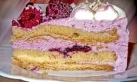 Gâteau aux myrtilles à la crème