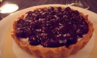 Tarte - tartelettes à la crème vanillée et aux myrtilles