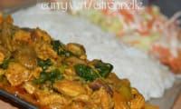Riz citronelle et curry vert
