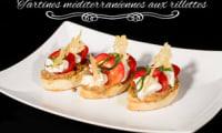 Tartines de rillettes méditerranéennes