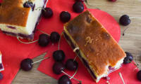 Gâteau philadelphia et cerises