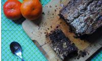 Cake au chocolat, clémentine et noix de cajou
