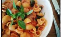 One pot pasta chipolatas et basilic