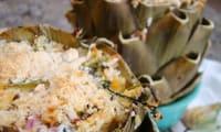 Fonds d'artichauts aux épinards et à la ricotta