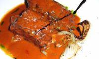 Terrine au thon et aux aubergines, coulis de tomates - sans gluten