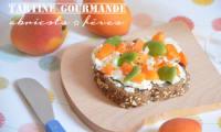 Tartine gourmande ricotta fèves et abricots