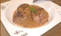 Filet mignon de porc au poivre et au madère