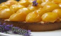 Tarte sablée abricots lavande