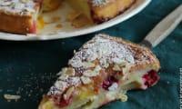 Moelleux aux prunes et framboises