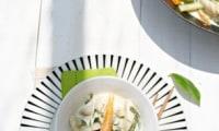 Poulet sauce coco et légumes croquants