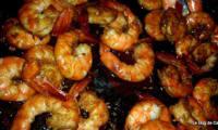 Crevettes sautées à l'ail, gingembre et sauce Soja