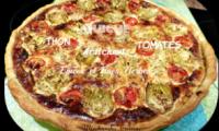Quiche au thon, tomates et cœurs d'artichauts, épices et fines herbes