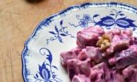 Salade de Betteraves aux Noix et Sauce au yaourt