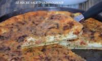Tarte aux courgettes et tomates séchées