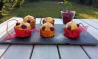 Muffins framboises - noisettes