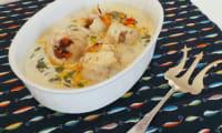 Filets de cabillaud aux poivrons et safran