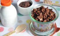Granola au chocolat et sirop d'érable