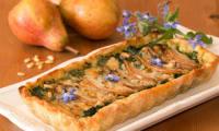 Tarte aux poires, épinards et gorgonzola