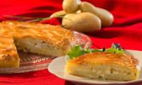 Tourte aux pommes de terre et Chavignol