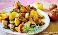 Sauté porc mariné au citron et romarin à la plancha
