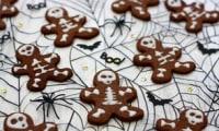 Biscuits squelettes au chocolat