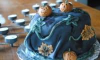 Striped Cake Halloween