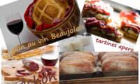 Pain au Beaujolais et à l'huile de noisettes