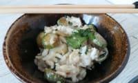 Poêlée de mini courgettes au riz thaï et lait de coco