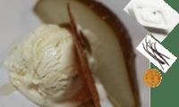 Poires au four à la crème fraîche, parfumées à la vanille - sans gluten