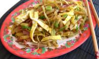 Poireau et pommes de terre au bacon