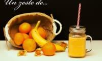 Smoothie mandarine orange banane citron physalis