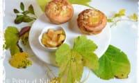 Muffins aux pommes caramélisées au sirop de cédrat