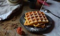 Gaufres d'automne butternut et cannelle