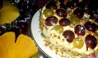Victoria Sponge Cake aux raisins et pistaches