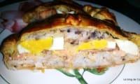 Lohipiirakka- Feuilleté aux oeufs, riz et saumon
