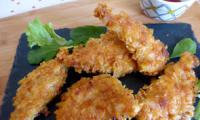Poulet pané au corn flakes cuit au four
