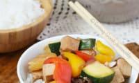 Tofu à la sauce aigre douce