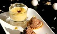 Tartelette curd de clémentine et ganache montée au chocolat