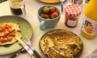 Pancakes pour brunch du dimanche