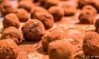 Truffes au chocolat, coeur noisette