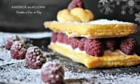 Mille feuille express vanille et framboises fraîches
