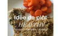 Quinoa, carottes au miel et poisson
