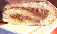 Bûche Mogador chocolat et fruits de la passion façon Pierre Hermé