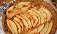 Tarte aux pommes, orange et cannelle