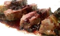 Filet de canette sauce au vin épicé