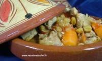 Sauté de porc aux raisins et au miel