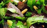 Salade de Betterave, Herbes, Pignons de pin