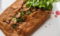 Galette jambon champignons fromage