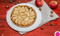 Clafoutis aux pommes et lait de noisettes